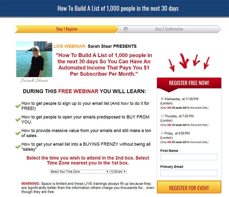 List Building Webinar