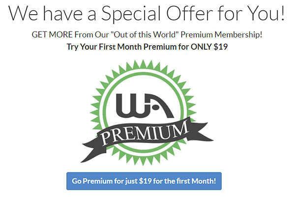 Wealthy Affiliate Special Offer