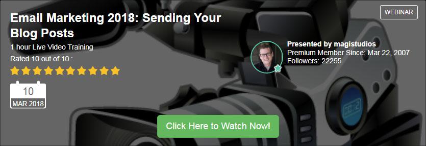 Email Marketing Webinar - Sending Your Blog Posts