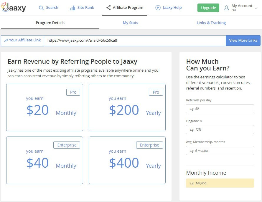 The Jaaxy Affiliate Program
