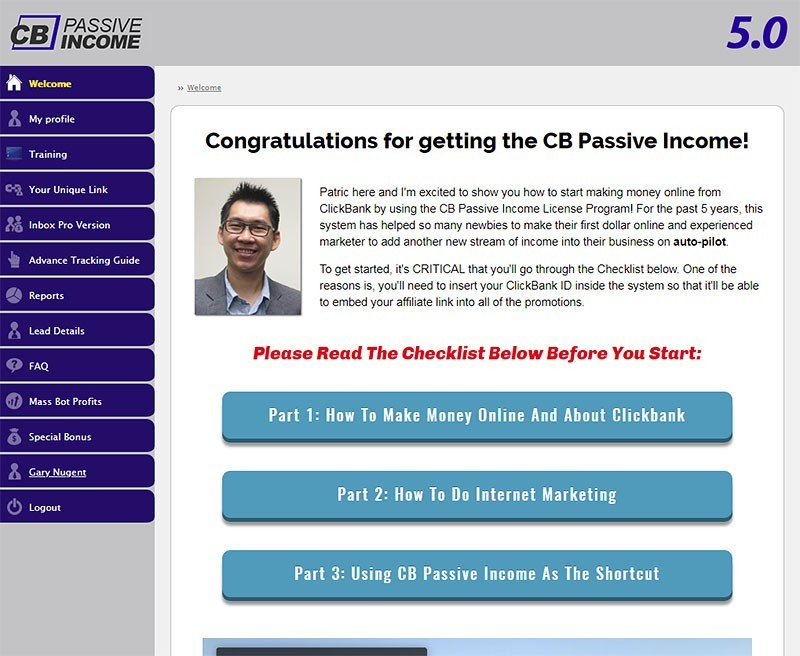 CB Passive Income 5.0 Dashboard