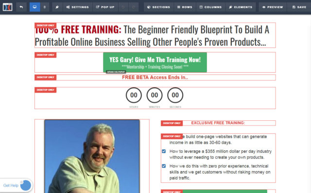 Clickfunnels® Optin Page Editor
