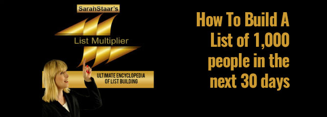 Sarah Staar's List Multiplier