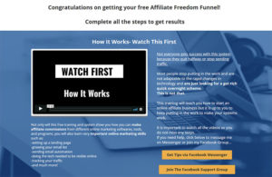 Affiliate Freedom Funnel