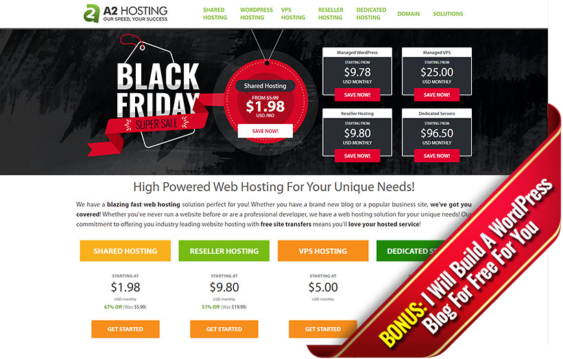 A2Hosting Black Friday Deal + My Bonus