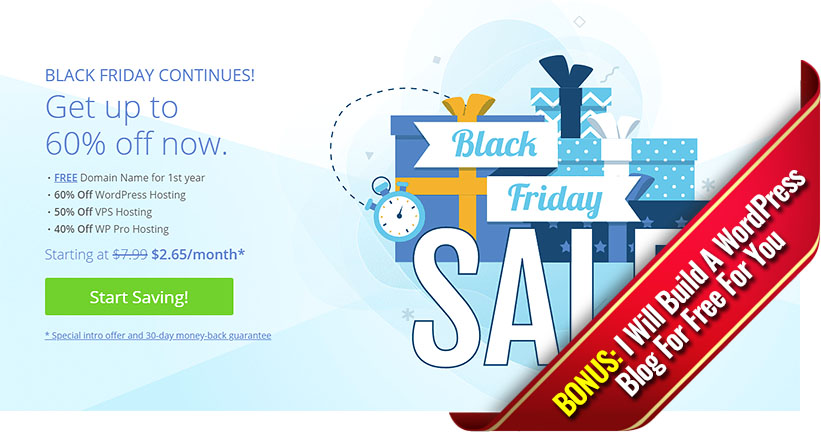 Bluehost Black Friday Deals + My Bonus