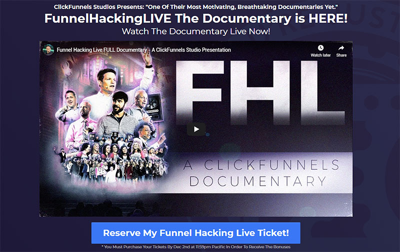 Funnel Hacking Live 2020 Tickets