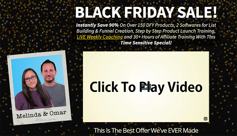 Omar And Melinda Martin's Black Friday Deal
