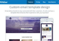 Aweber Custom Email Template Design