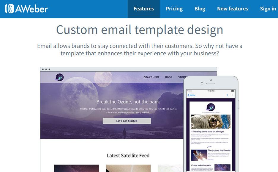 Aweber Custom Email Template Design