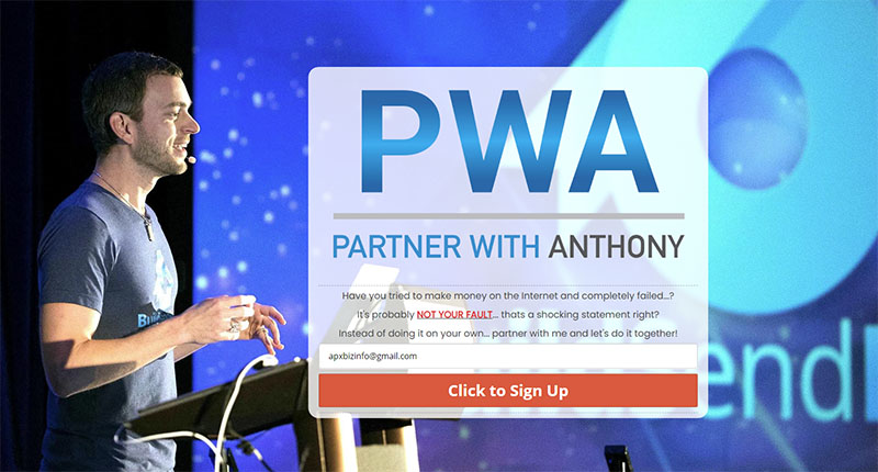 Partner With Anthony Optin Page