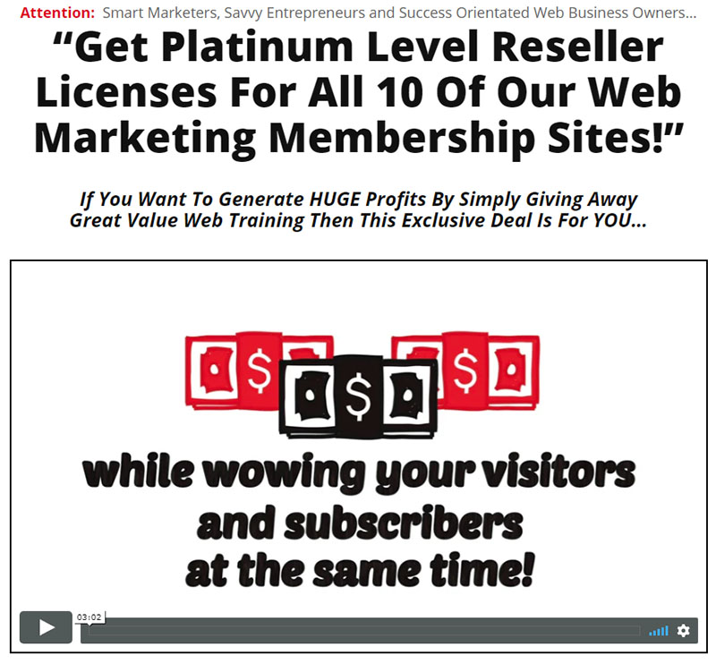 Platinum Level Reseller Licenses