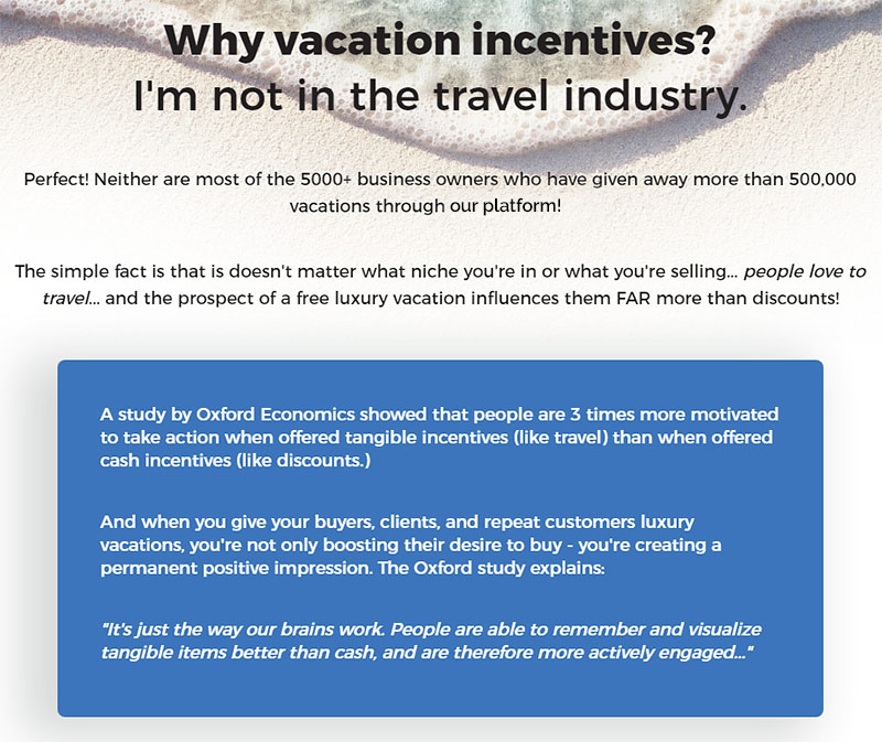 Why Vacation Incentives?