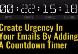 Create Urgency In Your Emails By Adding A Countdown Timer Featured Image