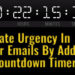 Create Urgency In Your Emails By Adding A Countdown Timer