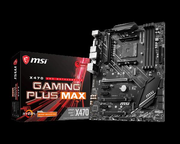 MSI X470 Gaming Plus MAX motherboard