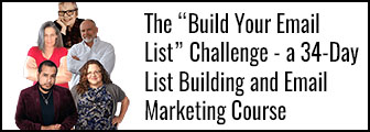 The 'Build Your Email List Challenge' Free Email Marketing Course