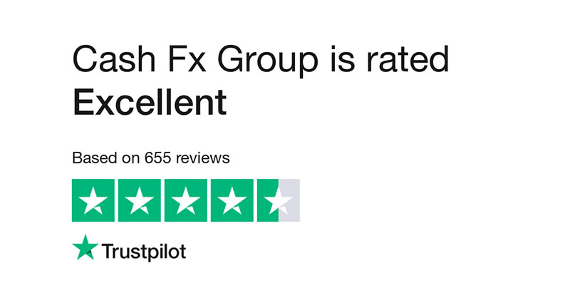 Cash FX Trustpilot Rating