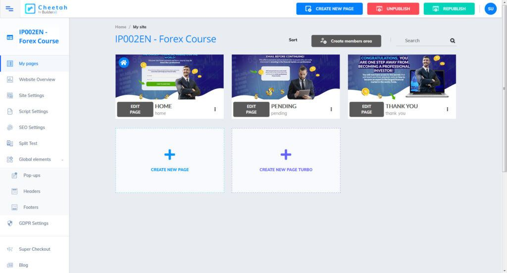 Builderall - Initial Forex Funnel